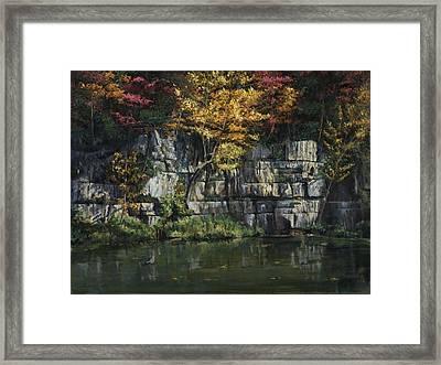 Fall Bluffs - Ozark Nat'l Scenic Rivers Framed Print by Don  Langeneckert