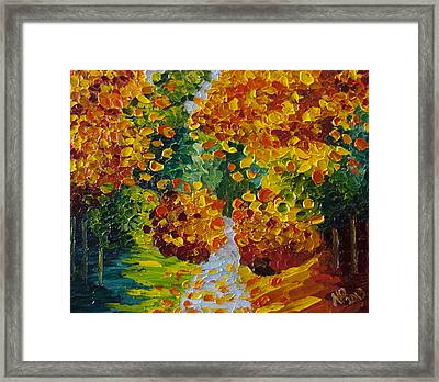 Fall Colors Framed Print by Natasha Petrosova