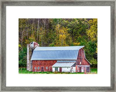 Fall Colors On The Farm Framed Print by Paul Freidlund