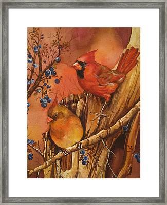 Fall Companions Framed Print by Cheryl Borchert