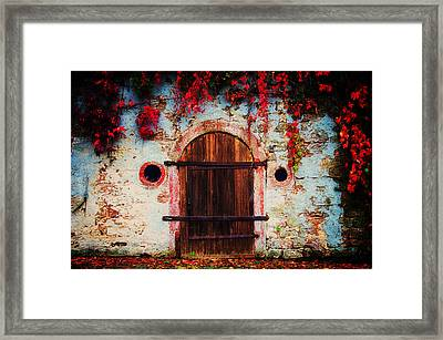 Fall Door Framed Print by Ryan Wyckoff