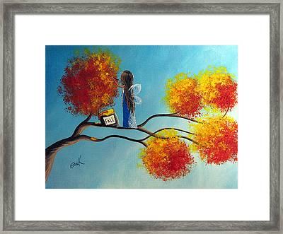 Fall Fairy By Shawna Erback Framed Print by Shawna Erback