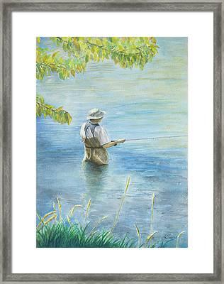 Fall Fisher Framed Print by Arthur Fix