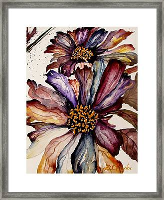 Fall Flower Colors  Framed Print by Lil Taylor