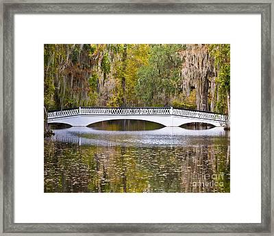 Fall Footbridge Framed Print by Al Powell Photography USA