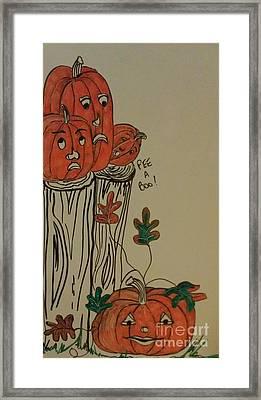Fall For Pumpkins Framed Print by Laurrie Lloyd