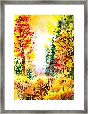 Fall Forest Framed Print by Irina Sztukowski