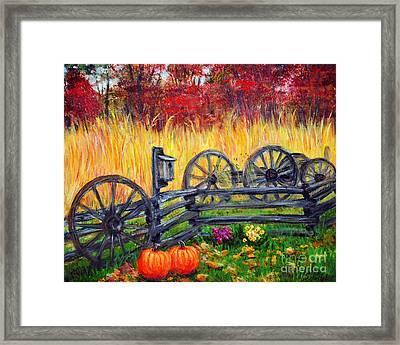 Fall Harvest Framed Print by Savannah Gibbs
