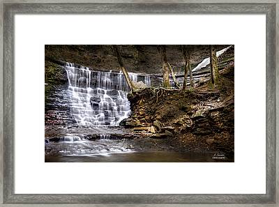 Fall Hollow Falls Natchez Trace Parkway Tennessee Framed Print by Joe Granita
