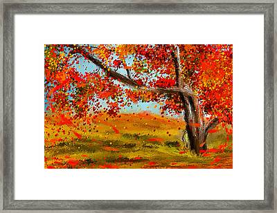 Fall Impressions Framed Print by Lourry Legarde