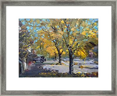 Fall In Silverado Dr  Framed Print by Ylli Haruni