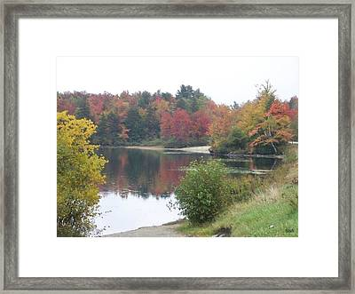 Fall Lake Colors Framed Print by Sandra J Isherwood