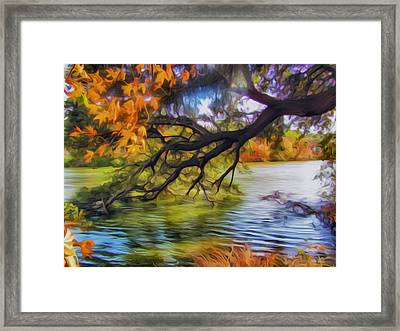 Fall Landscape 4 Framed Print by Lanjee Chee