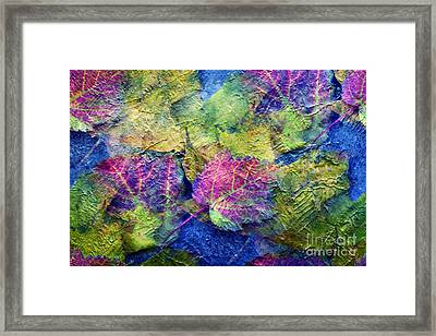 Fall Leave Abstract Framed Print by Judy Palkimas