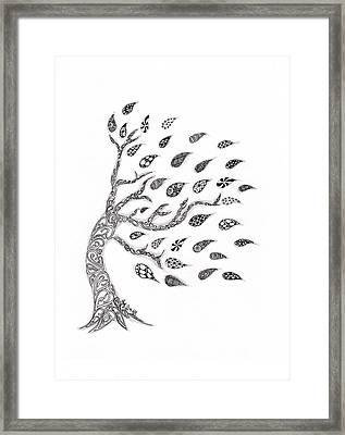 Fall Leaves Framed Print by Paula Dickerhoff