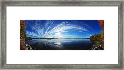 Fall Morning At Meddybemps Panorama Framed Print by Bill Caldwell -        ABeautifulSky Photography