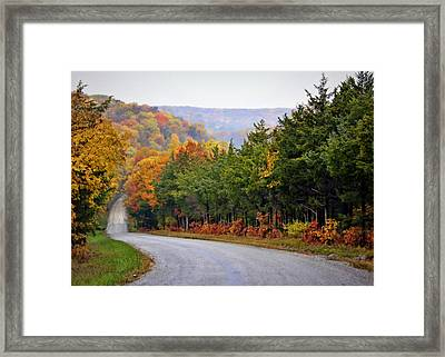 Fall On Fox Hollow Road Framed Print by Cricket Hackmann