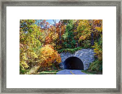 Fall On The Parkway Framed Print by Walt  Baker