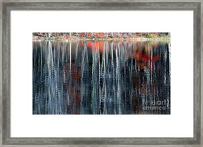 Fall Reflection 1 Framed Print by Rich Killion