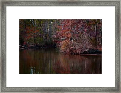 Fall Reflections Framed Print by Linda Unger