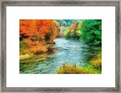 Fall River Framed Print by Anthony Caruso