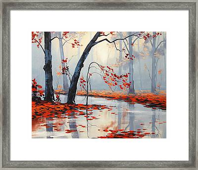 Fall River Painting Framed Print by Graham Gercken