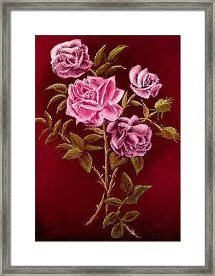Fall Roses Framed Print by Ron Chambers