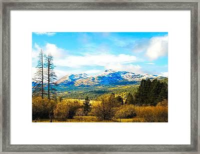 Fall Season In The Sierras Framed Print by Don Bendickson