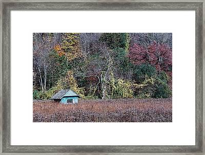 Fall Shed #1 Framed Print by Glenn Cuddihy