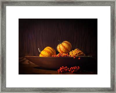 Fall Still Life Framed Print by Wayne Meyer