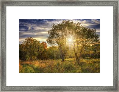 Fall Sunset - Retzer Nature Center - Waukesha Wisconsin Framed Print by The  Vault - Jennifer Rondinelli Reilly