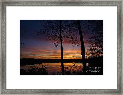 Fall Sunset Framed Print by Jacqueline Athmann