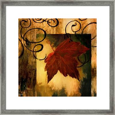 Fallen Leaf Framed Print by Lourry Legarde