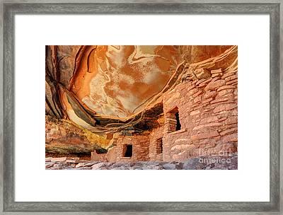 Fallen Roof Anasazi Ruins - Cedar Mesa - Utah Framed Print by Gary Whitton