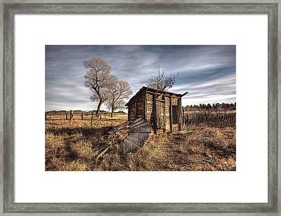 Fallen Windmill Framed Print by Dan Sabin