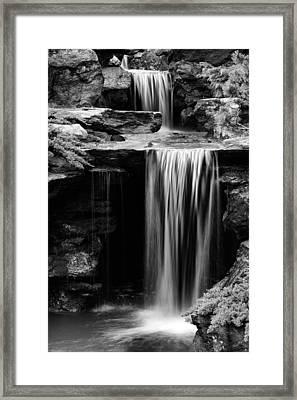 Falling Bw Framed Print by JC Findley