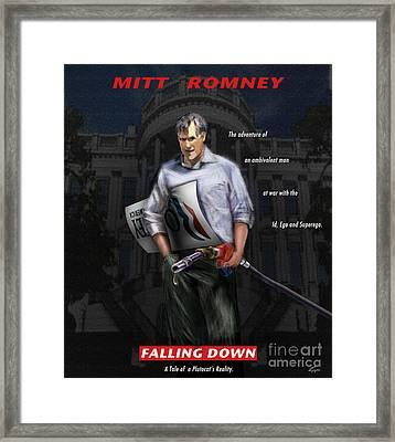 Falling Down Framed Print by Reggie Duffie