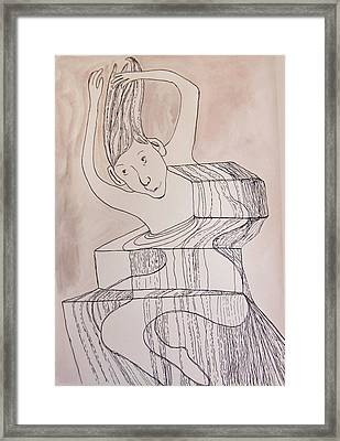 Falling Into Form Framed Print by Suzy Norris