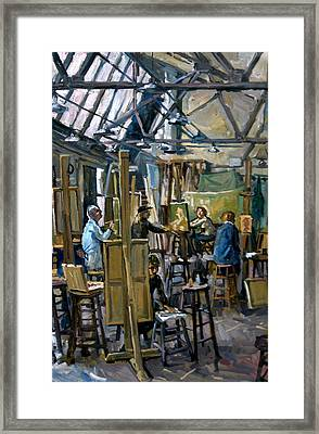 Falling North Light Art Students League Of New York Framed Print by Thor Wickstrom