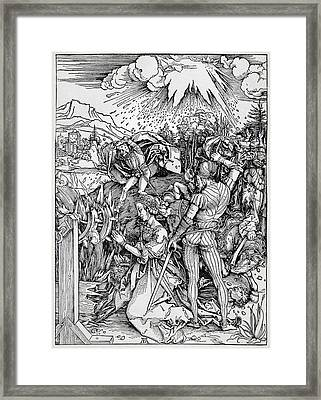 Falling Of The Ensisheim Meteorite Framed Print by Detlev Van Ravenswaay