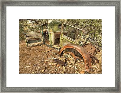 Falling Off The Wheels Framed Print by Adam Jewell