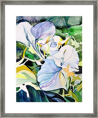Falling Orchids Framed Print by Mindy Newman