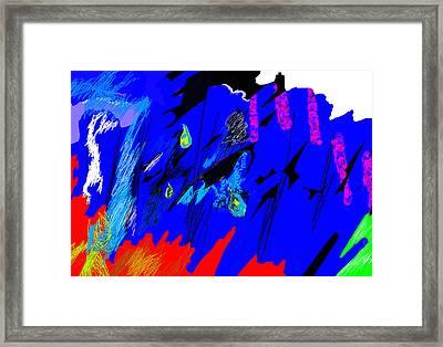 Falling Through Lightness  Framed Print by Paul Sutcliffe