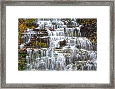 Falling Water Framed Print by Frozen in Time Fine Art Photography