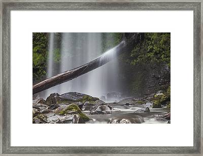 Falling Water Framed Print by Shari Mattox