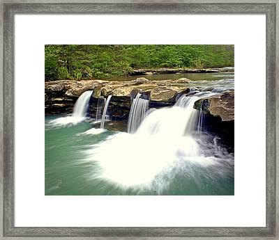 Falling Waters Falls 4 Framed Print by Marty Koch