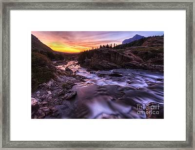 Falls At First Light Framed Print by Mark Kiver