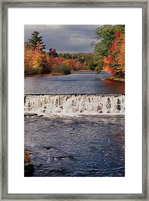 Falls Color Framed Print by Joann Vitali