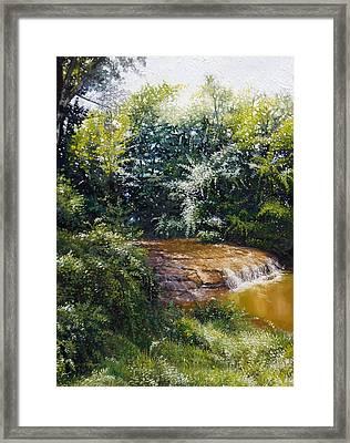 Falls Framed Print by Gregg Hinlicky