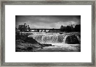 Falls Of The Big Sioux Framed Print by Stephen Stookey